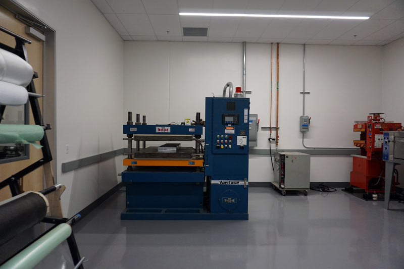 specialized headquarters factory tour - new carbon fiber layup room and research and development lab