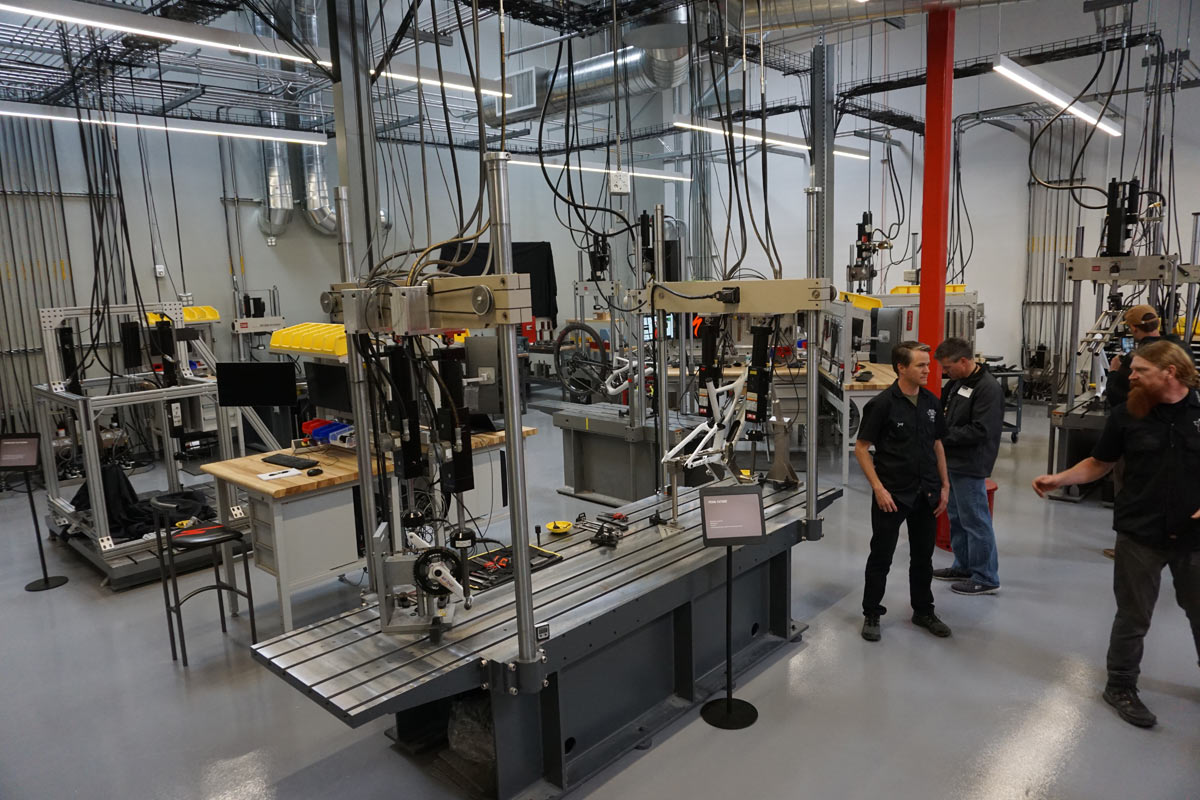 specialized headquarters factory tour - new testing lab