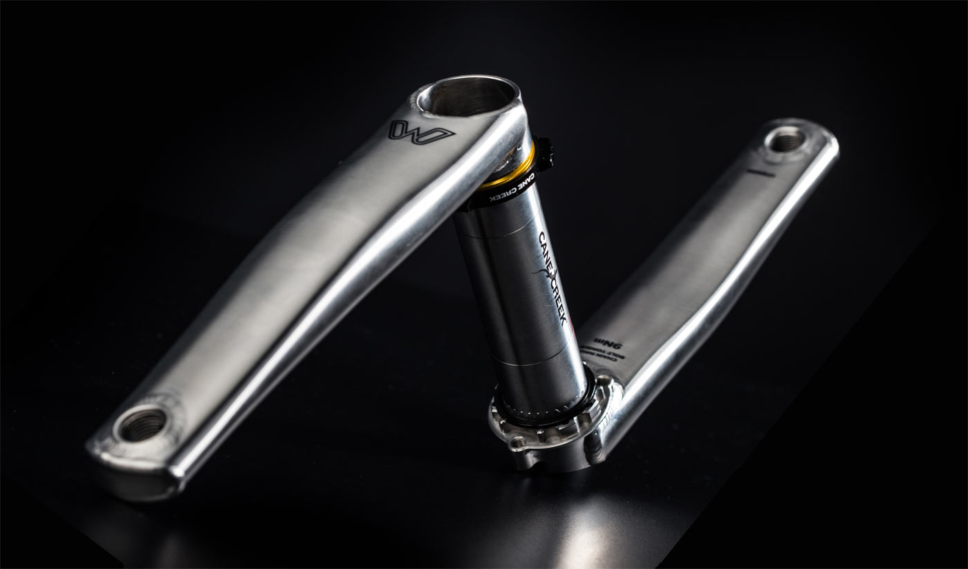 cane creek eeWings titanium crankset are a modern version of sweetwings for road gravel and mountain bikes