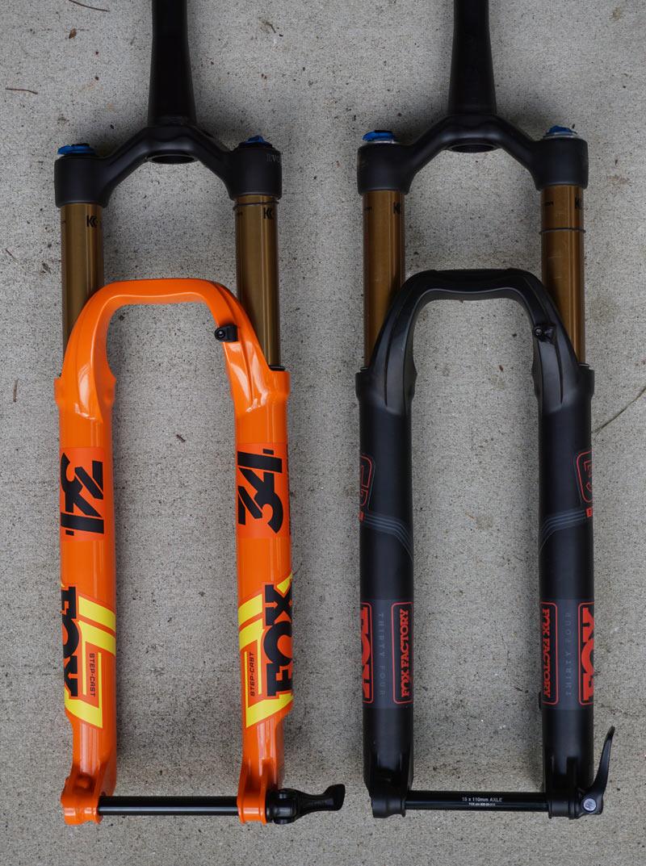 comparison between Fox 34 SC and regular Fox 34 mountain bike forks
