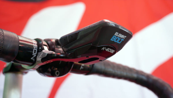 aerodynamic gps cycling computer mount from K-Edge for Wahoo Bolt