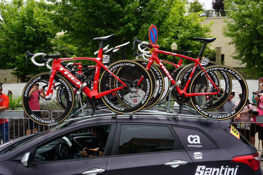 Trek-Segafredo team pro bike checks from Giro d-Italia 2018