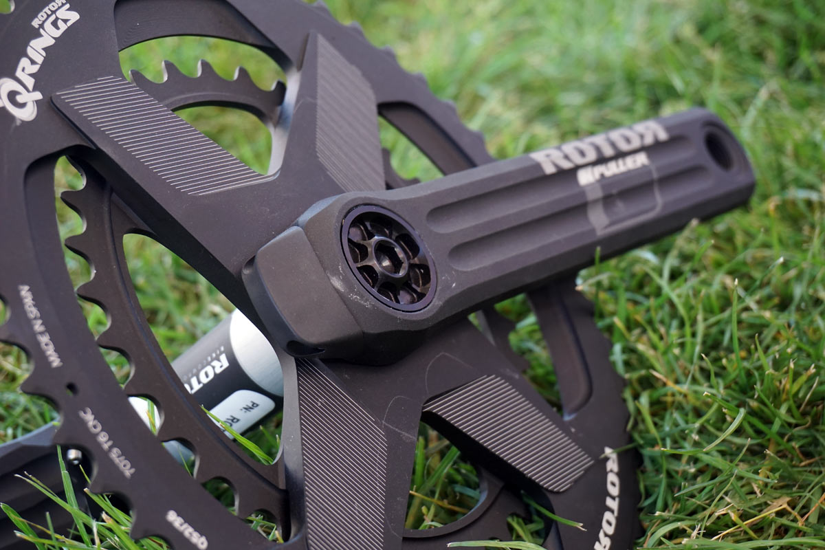 2019 Rotor Vegast road and Kapic mountain bike cranksets with new INpower power meter spindles