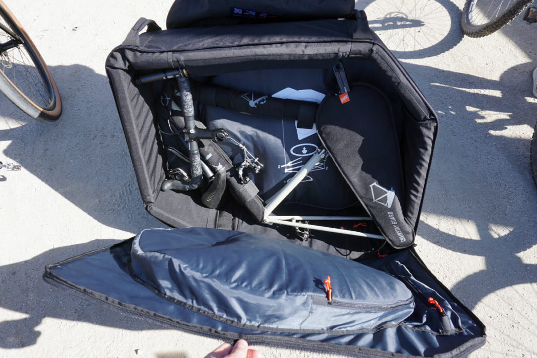 Post Carry full size bicycle travel case fits in standard luggage dimensions with no airline baggage fees