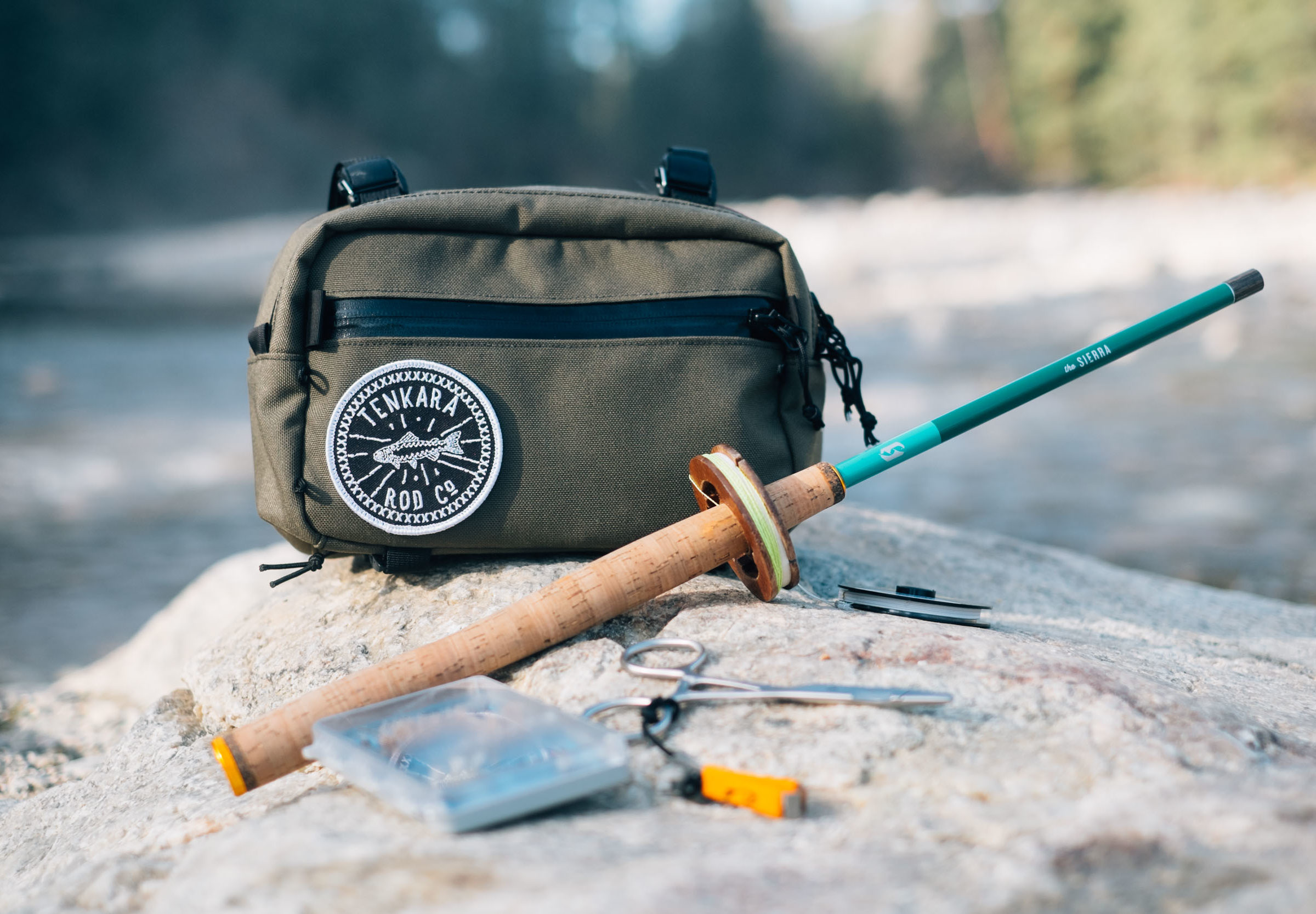 Swift Industries goes fishing with Tenkara Rod Co. Elwha Pack Collaboration