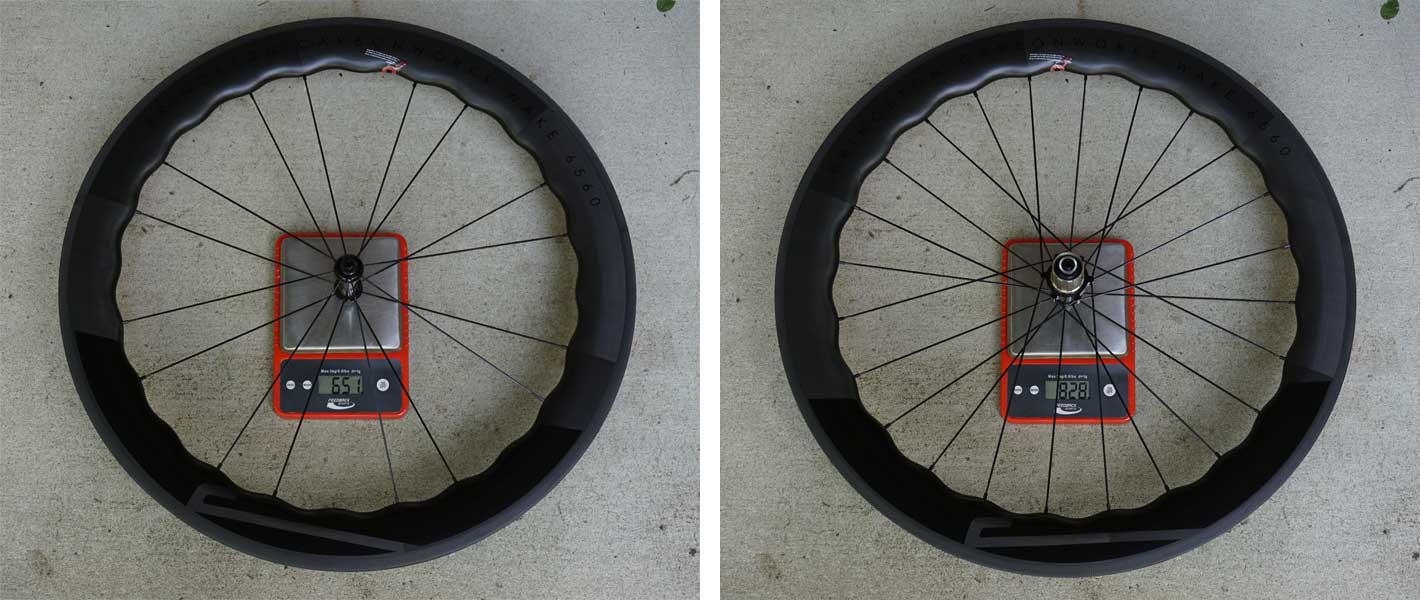 princeton carbonworks wake 6560 lightweight aero carbon road bike wheels review for rim and disc brakes with actual weights