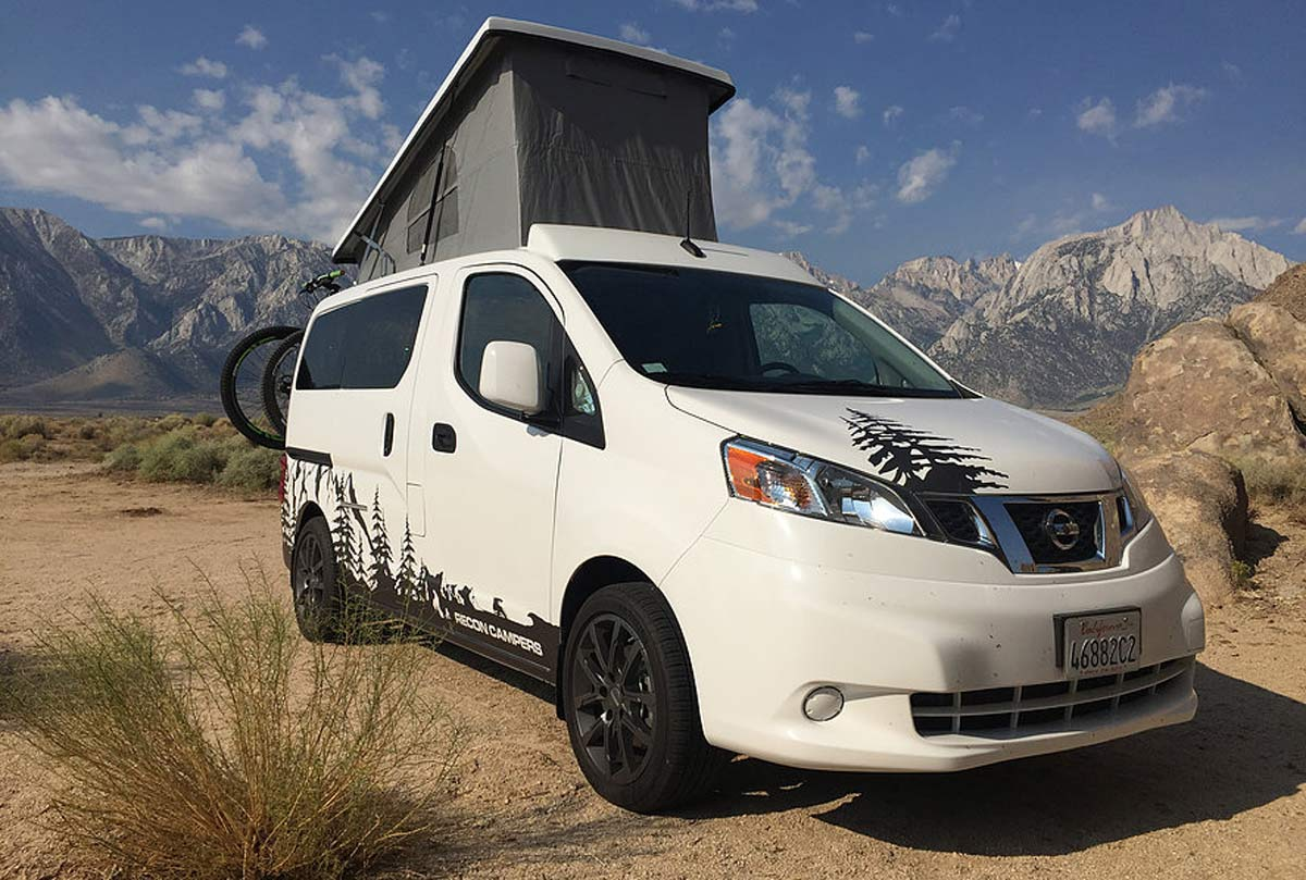c3f1eb2435  VANLIFE  Recon Campers  Nissan NV200 sleeps four   fits in your garage