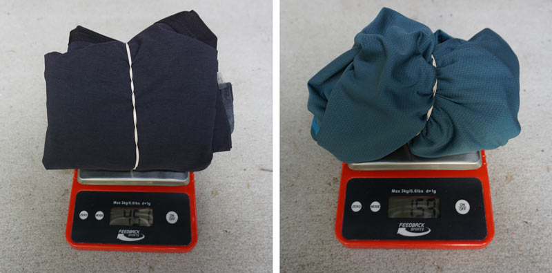 how much does cycling clothing and mountain bike clothing weigh
