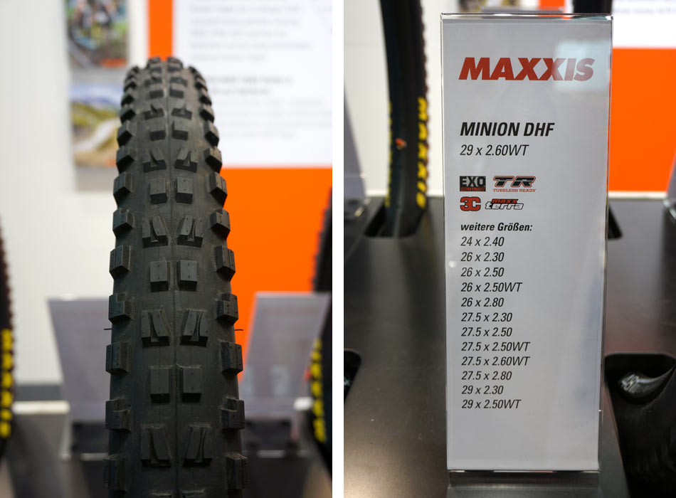 new Maxxis Minion DHF 29x26 and 24inch enduro mountain bike tires