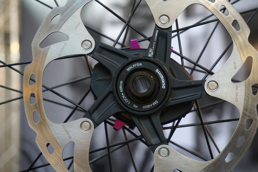 new PowerTap G4 disc brake rear hub with integrated rechargeable power meter