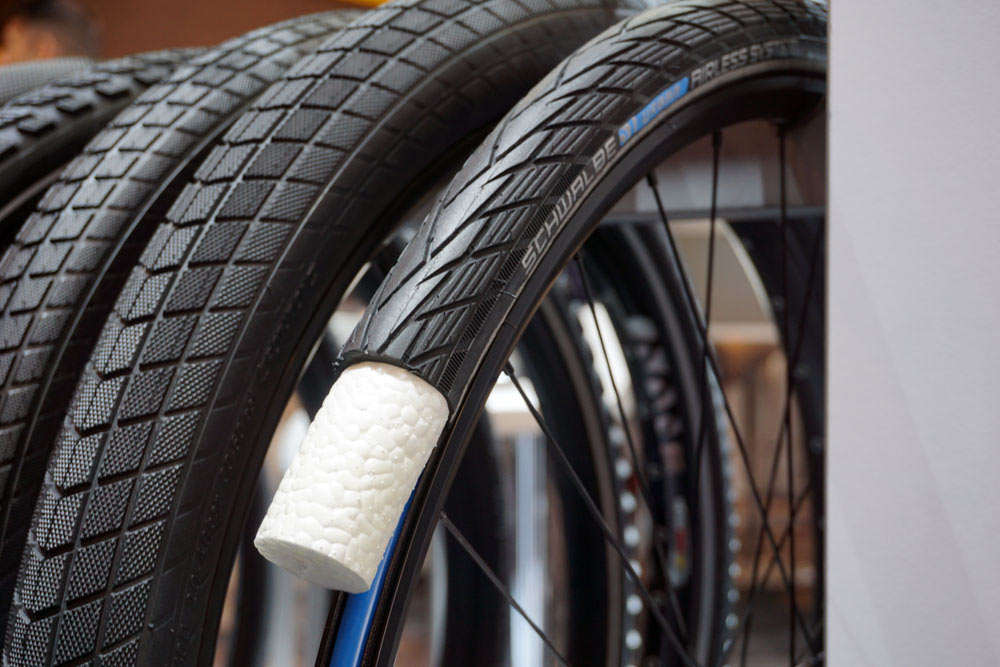 2019 Schwalbe Urban Airless System commuter city bicycle tires with foam insert to prevent punctures and flats