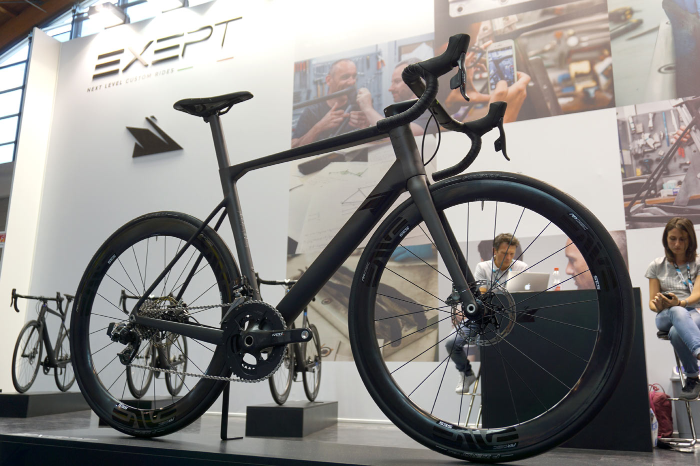 Exept custom monocoque carbon fiber road bikes use a unique sizing system to deliver the perfect fit and geometry