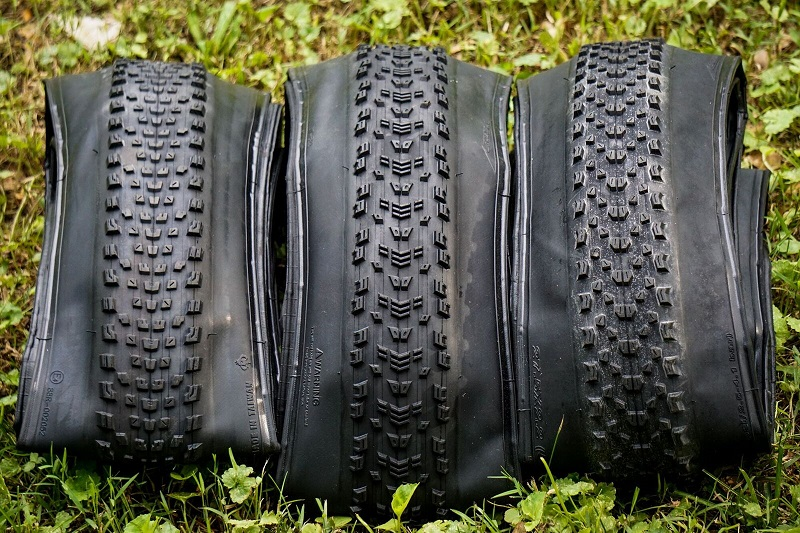 Maxxis Rekon Race, Aspen and Ikon XC tires