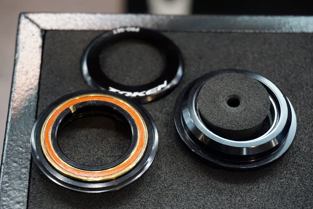 Token ProSet headset fits pressfit and integrated headsets with a flat top cap so you can slam that stem