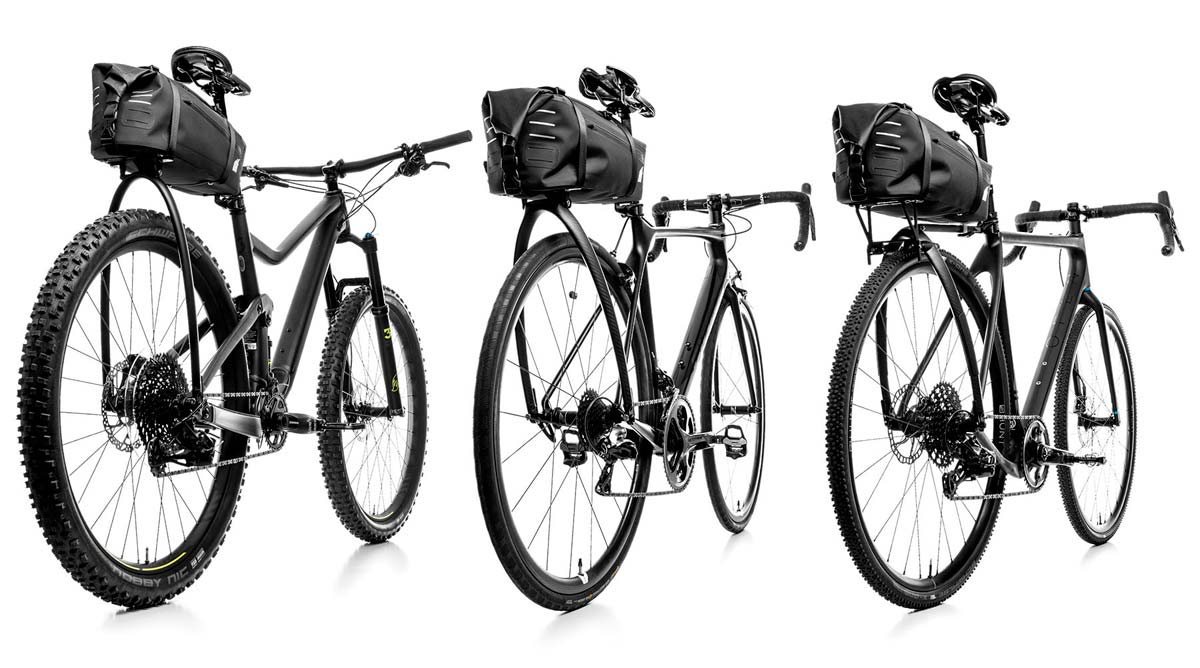 Tailfin AeroPack aerodynamic rear bike rack with integrated seatbag trunk bag for road bikes mountain bikes and commuter cyclists