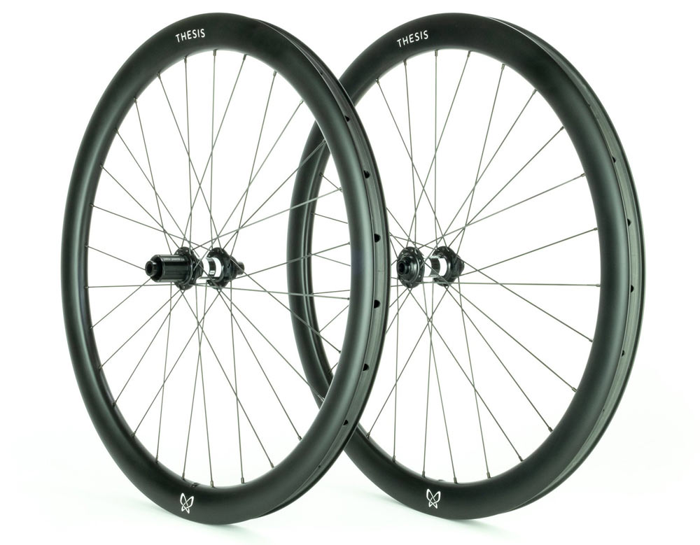 Thesis UltraWide 650B gravel and touring carbon fiber wheels with graphene