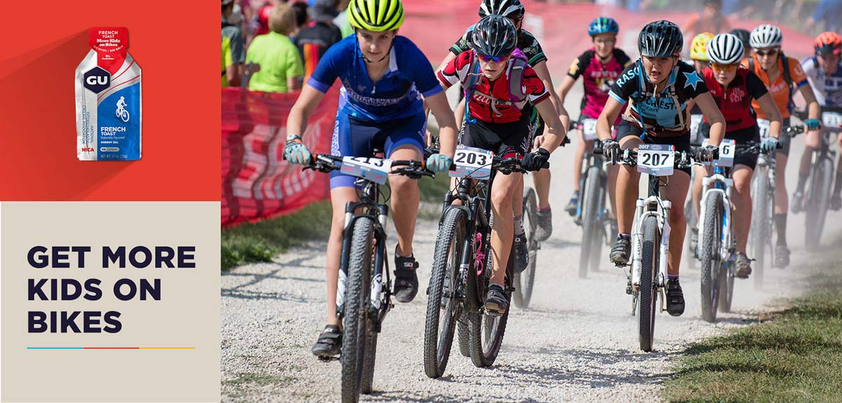 GU Energy french toast flavored gel supports youth mountain bike racing through NICA