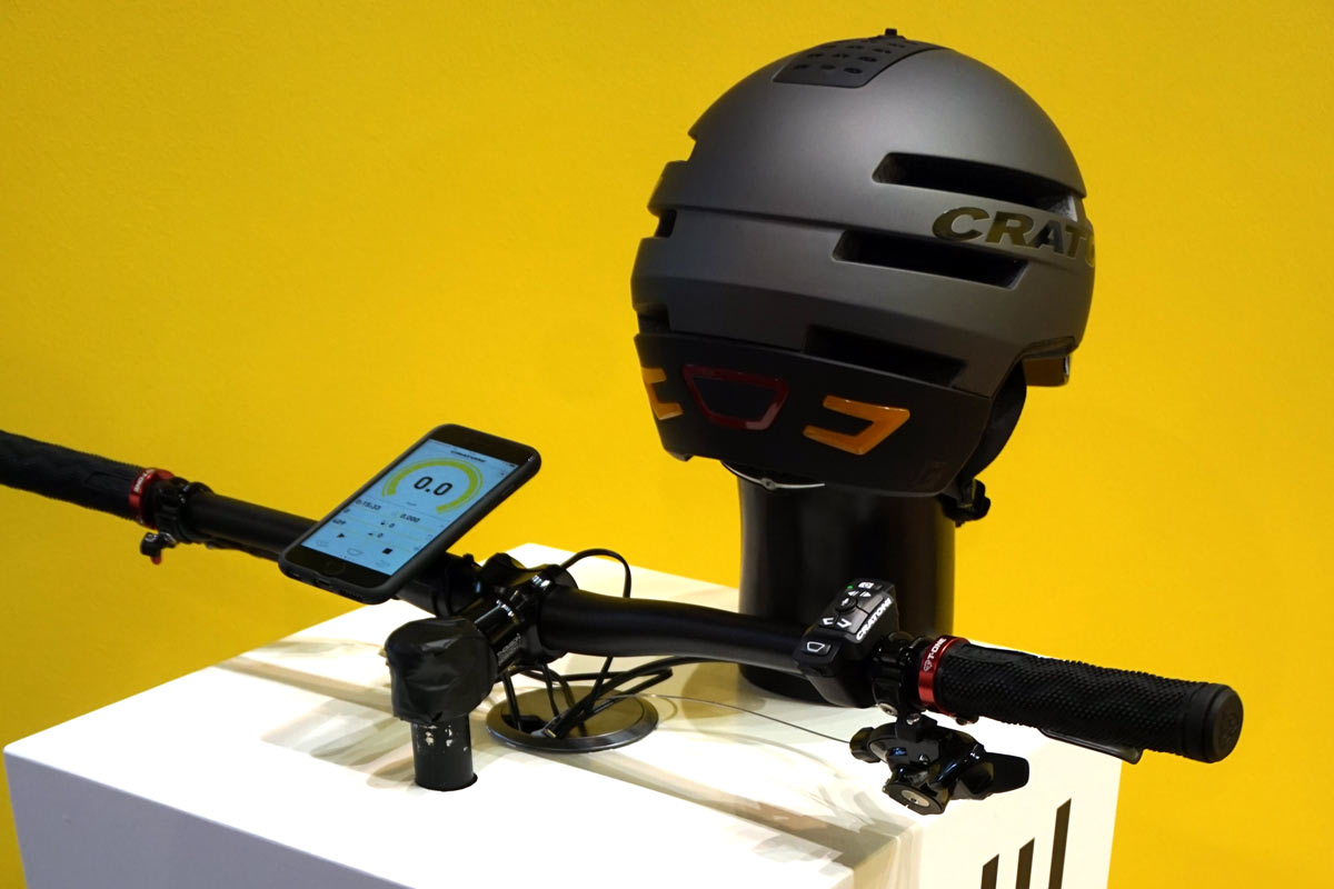 cratoni smartride commuter bicycle helmet with built in turn signals brake lights speakers and safety alerts