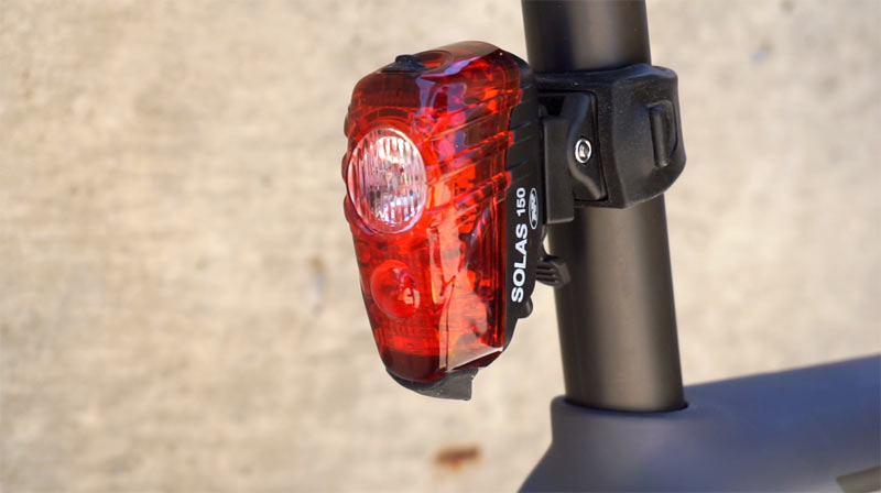 niterider bike lights used during the day can improve visibility of the cyclist to car drivers