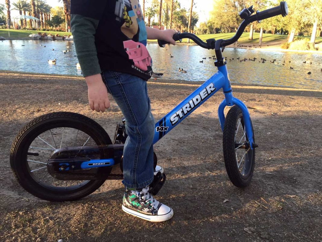 Strider 14x balance bike converts to pedal bike as your kid grows