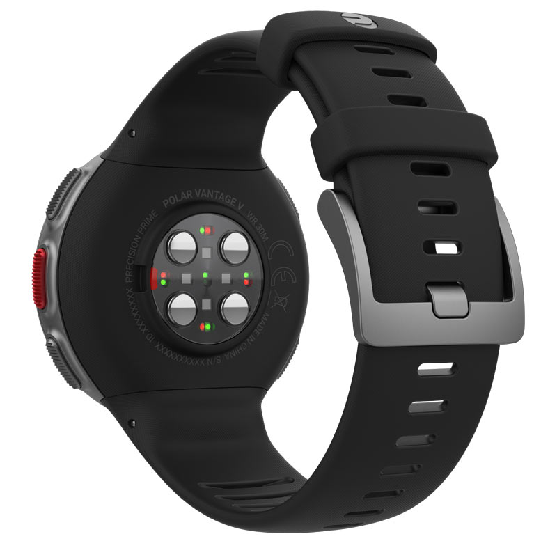 how does Polar Vantage measure heart rate from the wrist