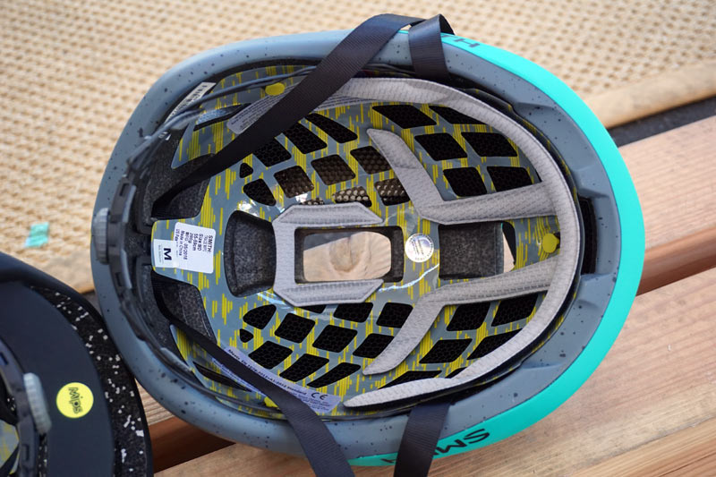 2019 Smith Trace road bike helmet with Koroyd and MIPS impact and rotation protection