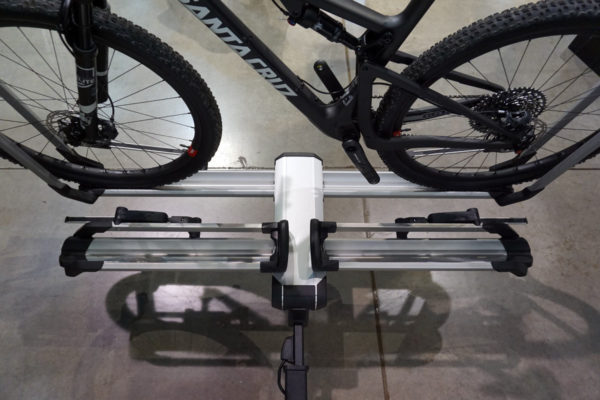 2019 Thule Helium Tray hitch mount bike rack is lightweight and easy to lift and use