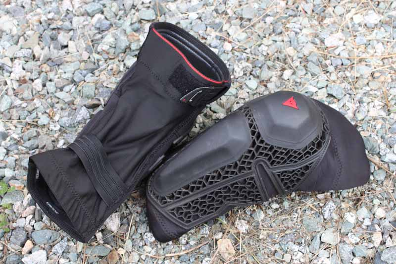 Dainese Enduro Knee Guards, front and back
