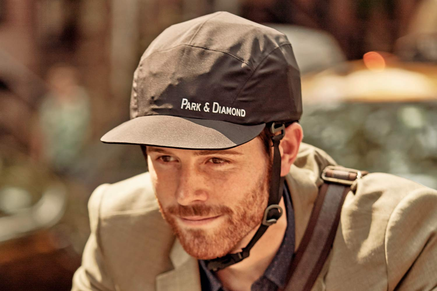 Park and Diamond bicycle helmet collapsible folding baseball cap style urban commuter cycling helmet