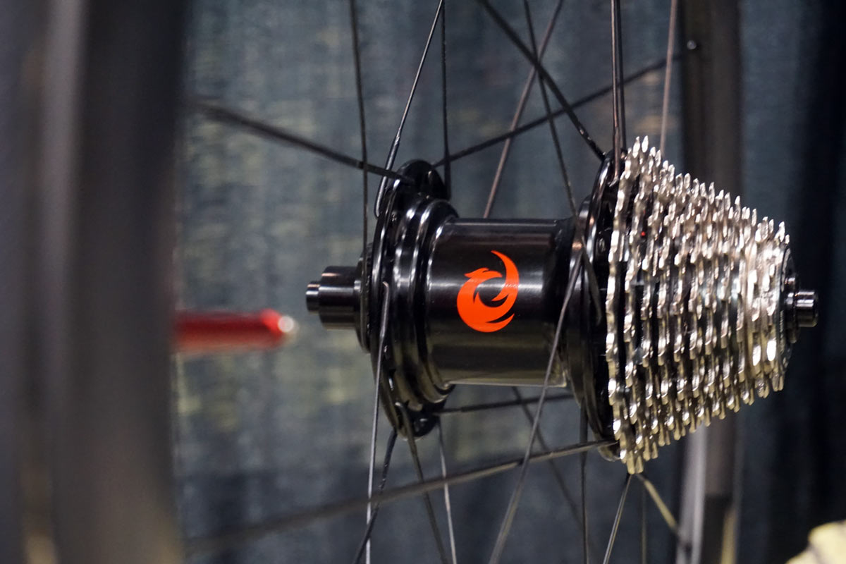 Two Point Zero Phoenix interchangeable hub makes it easy to swap cassettes to different wheels for road triathlon cyclocross and gravel bikes