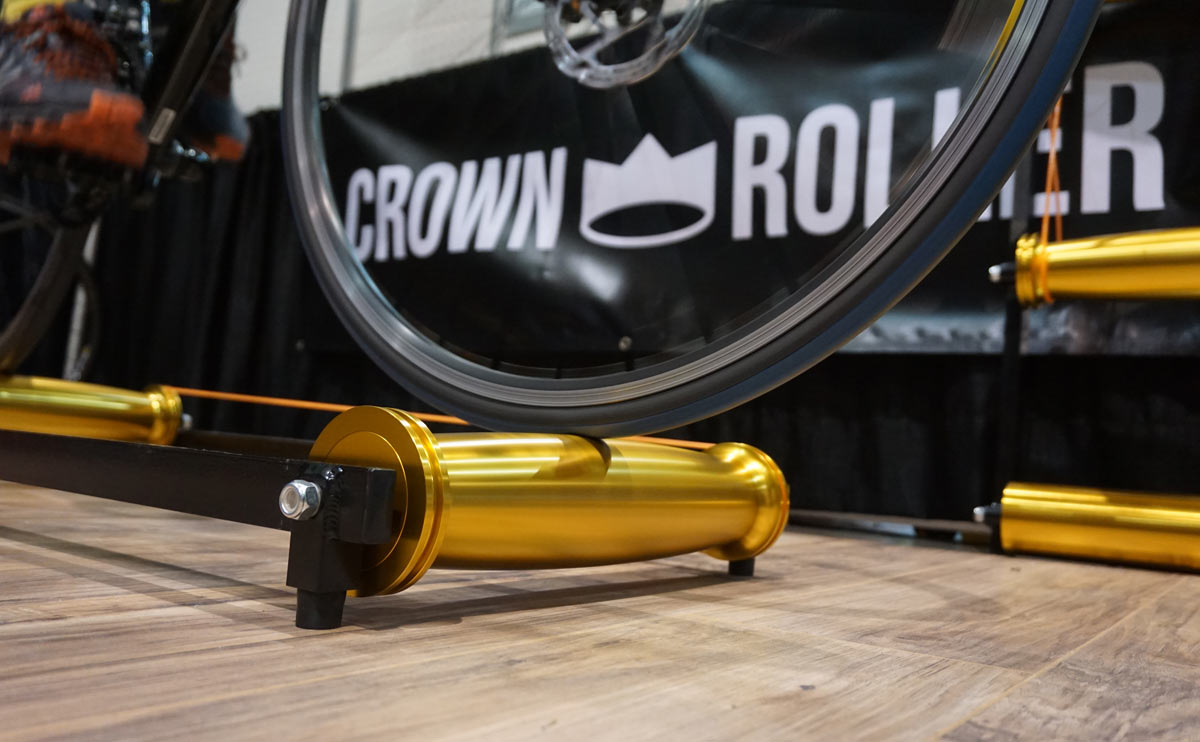crown roller curved cycling rollers for indoor training with a design thats more stable and easier to learn