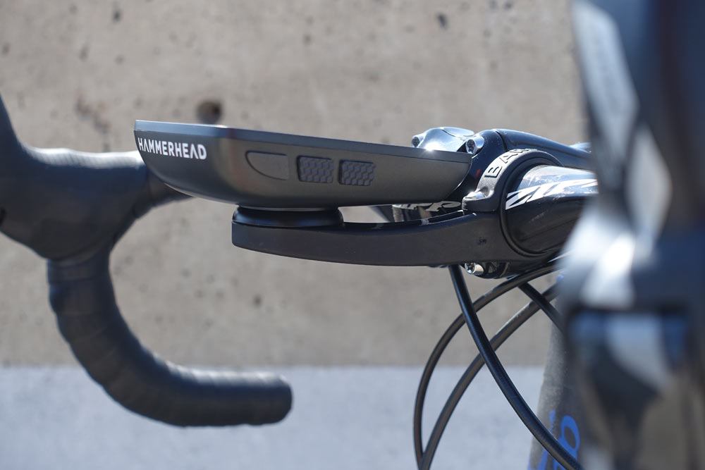 hammerhead karoo gps cycling computer offers a large color screen and quick route navigation with easy route planning