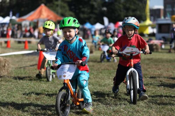 Roanoke GoFest kids balance bike race is one of many family friendly outdoor activities at this free festival
