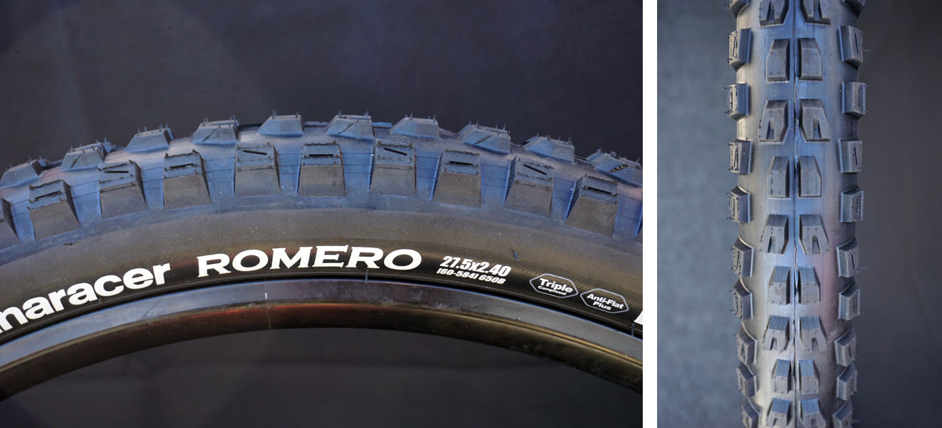 Panaracer Romero all conditions enduro mountain bike tire sizes and tech specs