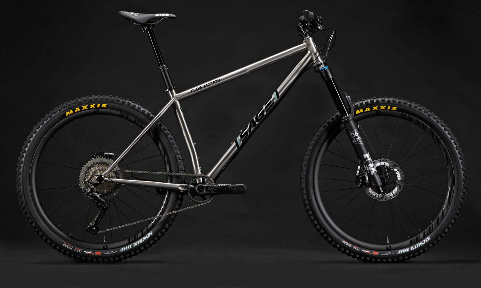 Sage Flow Motion, US-made titanium all-mountain hardtail is trail