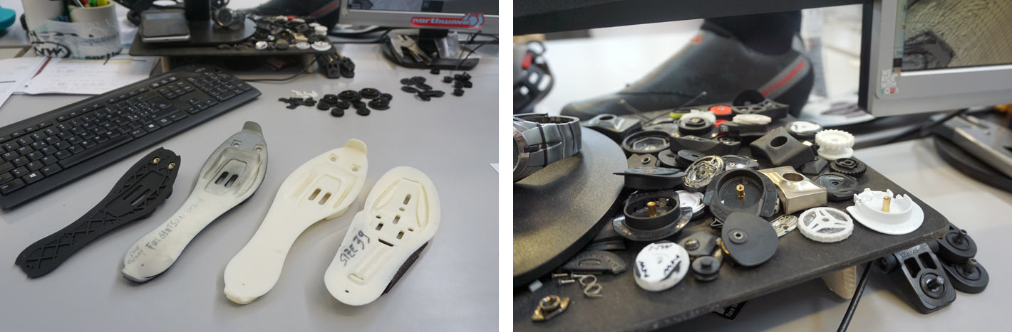 prototype carbon outsoles for new northwave road bike shoes
