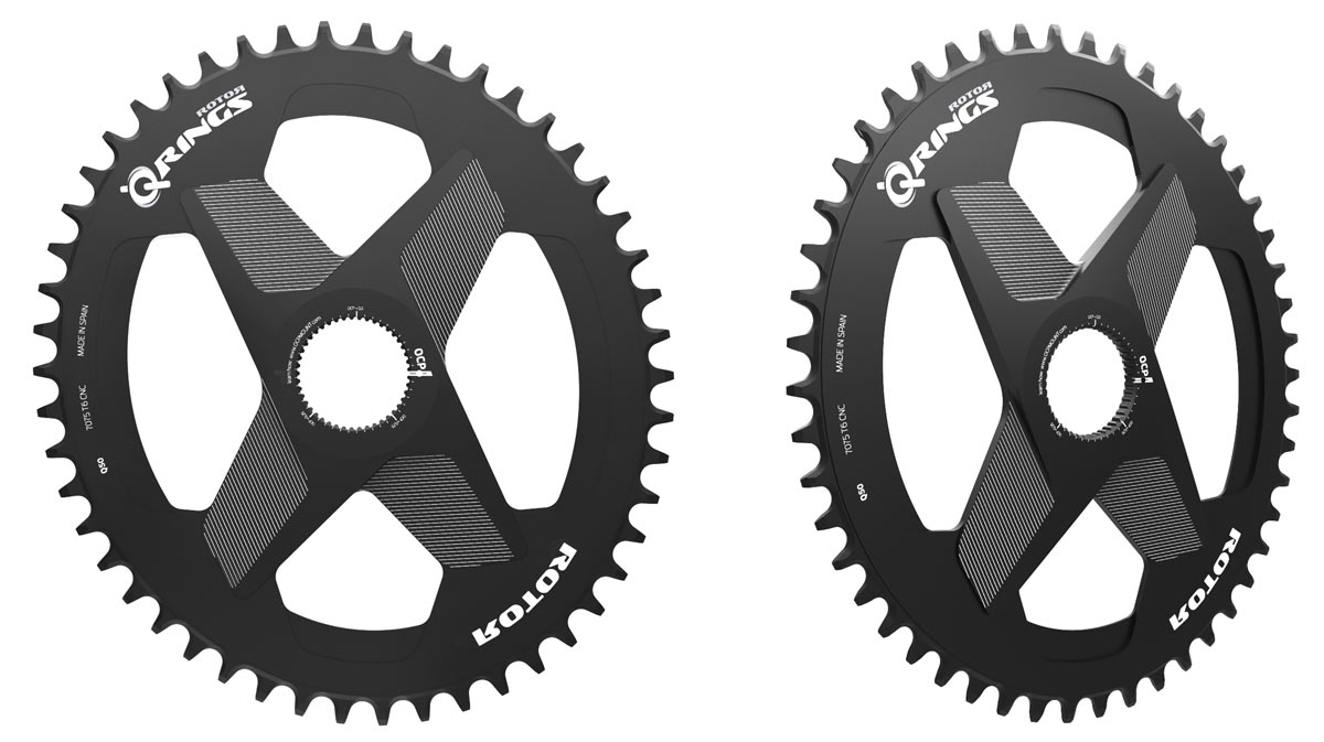 1x direct mount rotor oval q-ring chainrings