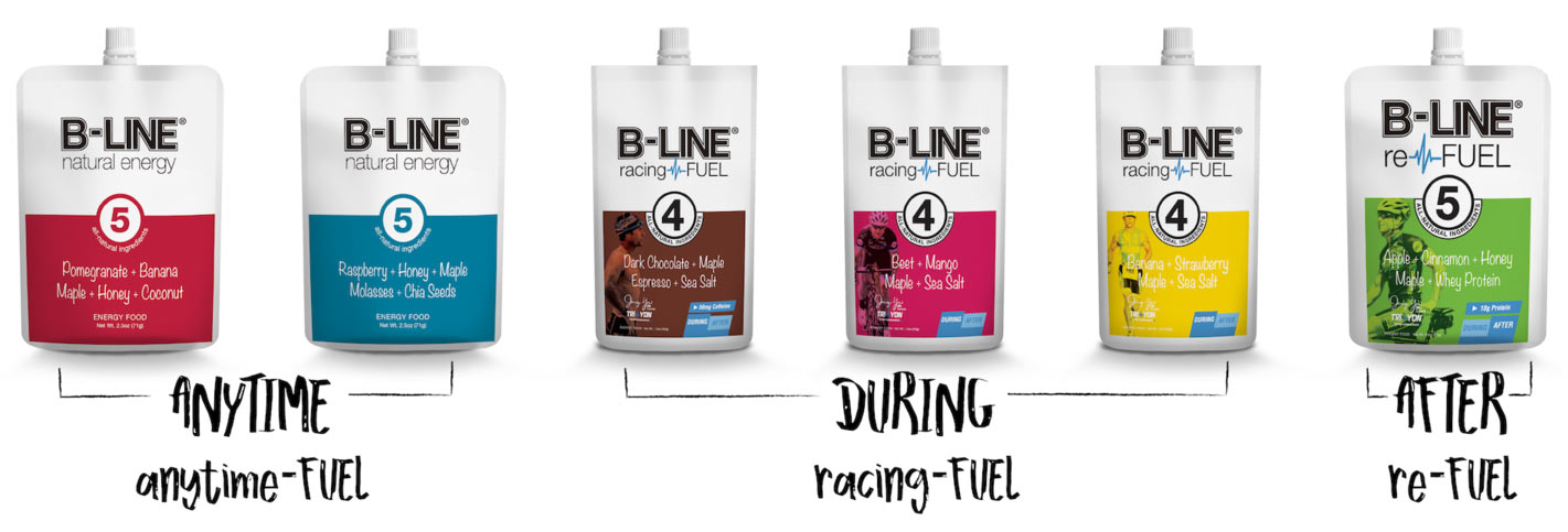 B-Line Natural real food energy supplement and recovery gel for cyclists runners and crossfit endurance athletes