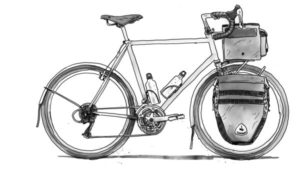 Escape by Bike; Adventure Cycling, Bikepacking, and Touring Off-Road, illustration by Chris McNally