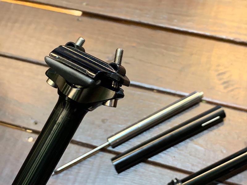 KS Rage entry level dropper seatpost will be more affordable and still use a integrated cartridge