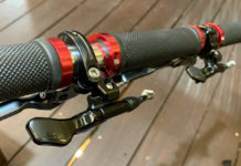 KS Reverse Southpaw remote lever works with any dropper seatpost and can run cables in both directions