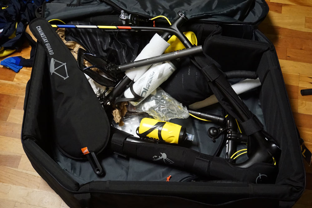 Post Carry standard size bicycle travel case review shows how to avoid airline oversize fees when traveling with your bike