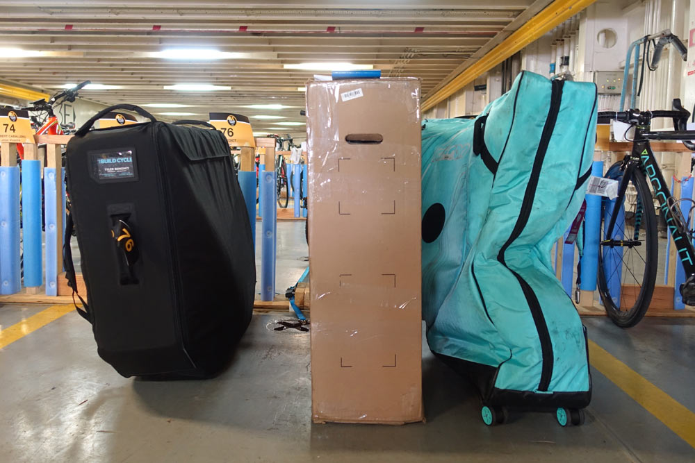Post Carry bike case size comparison to standard bike travel bags and hard cases
