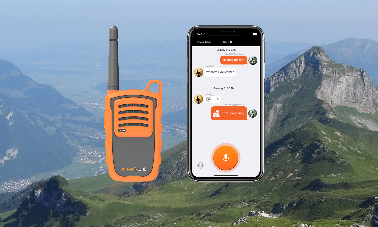 Power Talkie delivers backcountry text, talk & map sharing