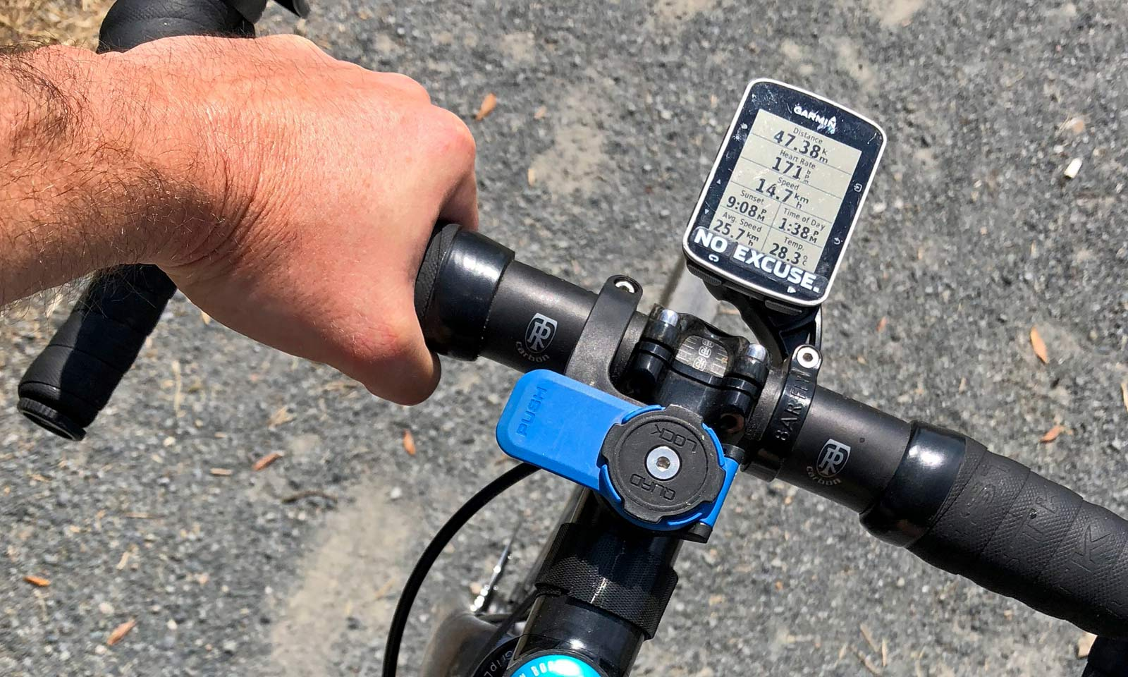 half off 094ac cfc62 Review: Quad Lock iPhone X case & out-front Bike Mount keeps ...