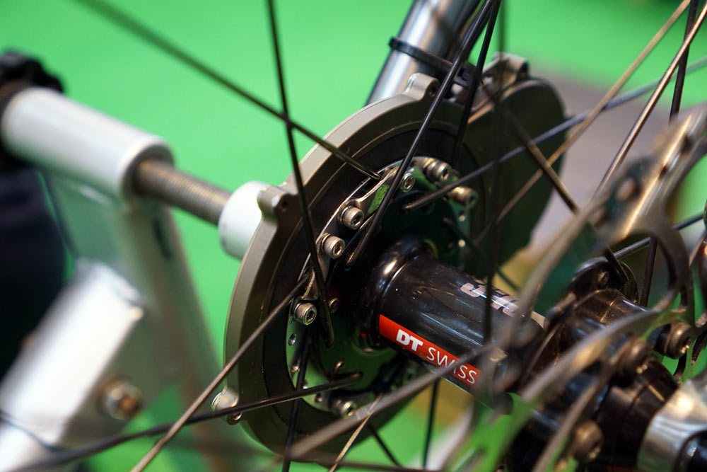 SunUp Eco SpinUp add-on dynamo adds on to any front hub to provide USB power while riding your bike