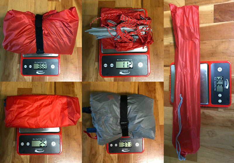 rei quarterdome 1 and flash point inflatable camping pad actual weights