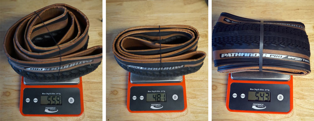 Specialized Pathfinder gravel road bike tires actual weights