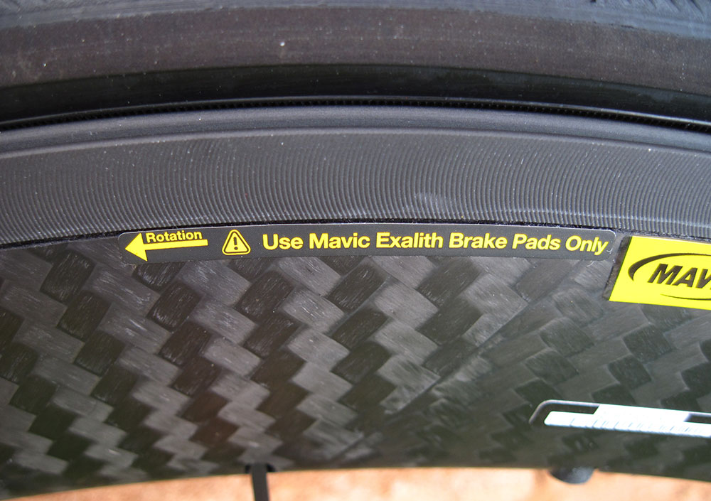 Mavic Exalith aluminum braking surface