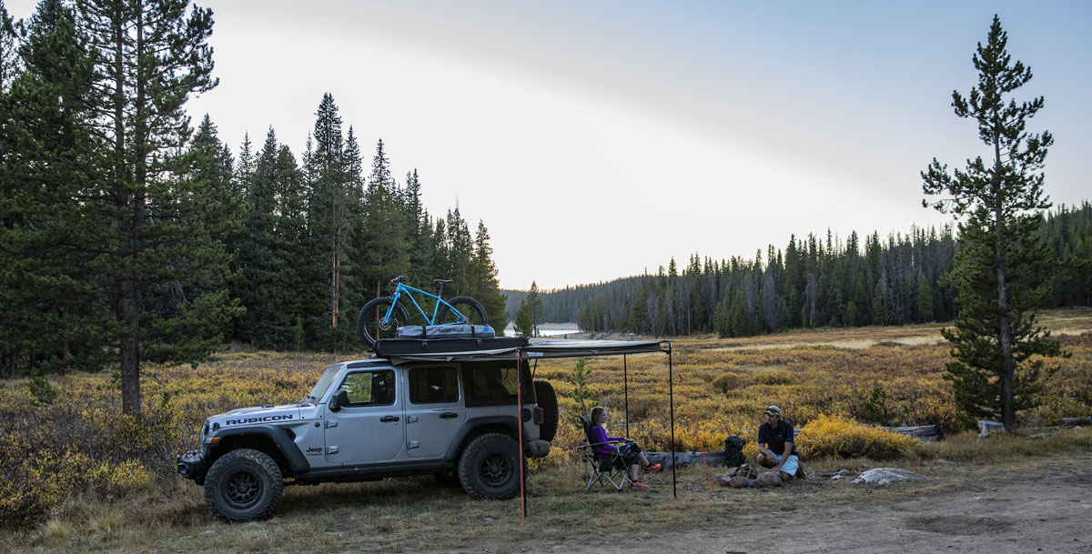 Rhino Rack Batwing Compact awning for small vehicles, SUVs, and cars for camping, riding, hiking.